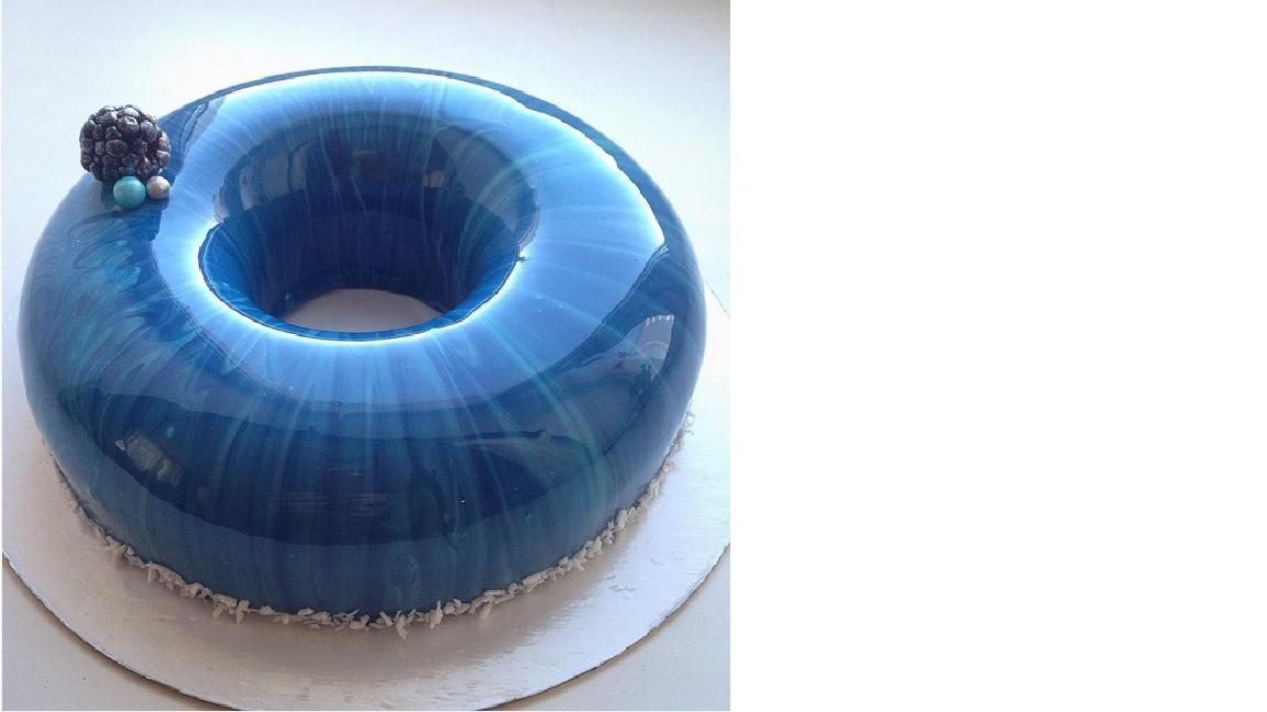 Farbige kuchenglasur