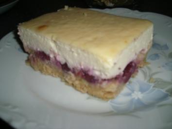 Schneller kuchen mit kirschen und quark