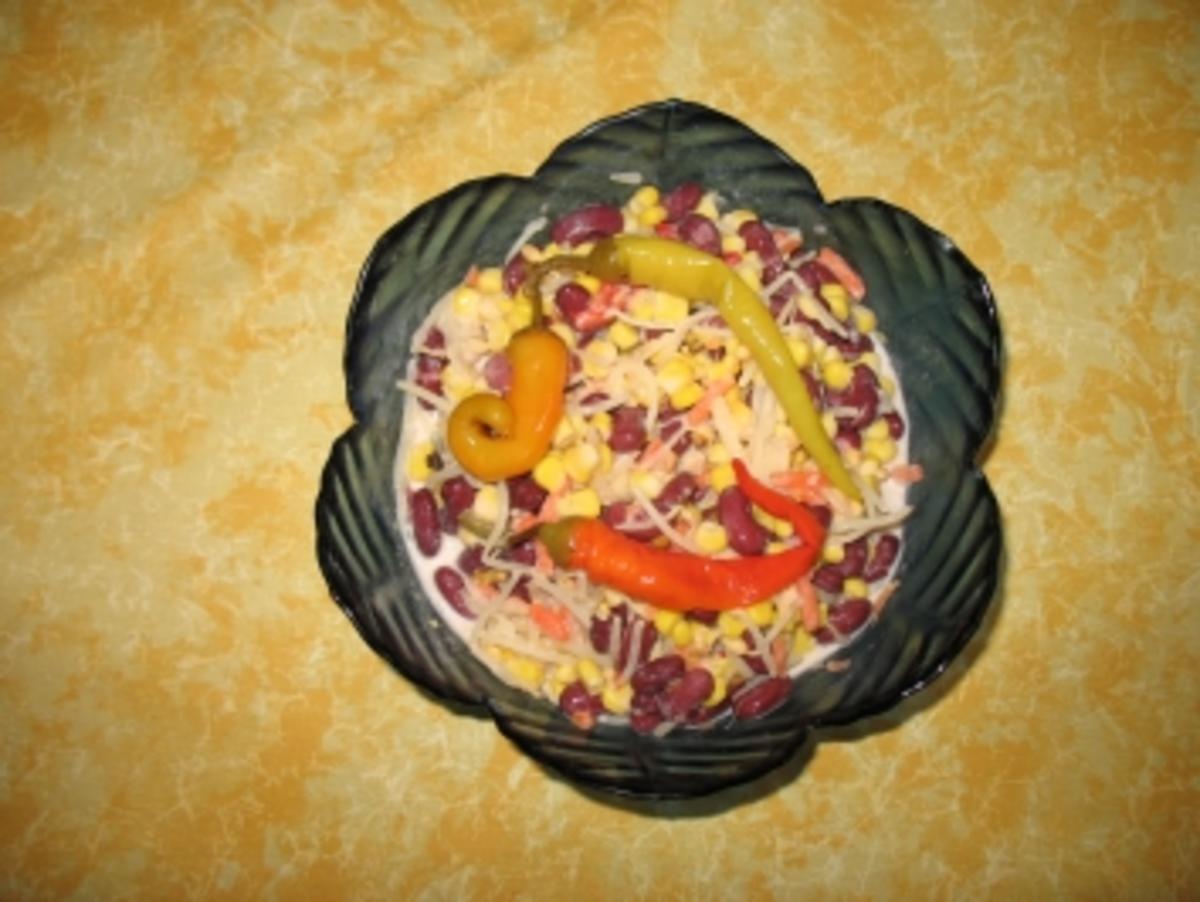 asiatischer mais kidneybohnen salat rezept. Black Bedroom Furniture Sets. Home Design Ideas