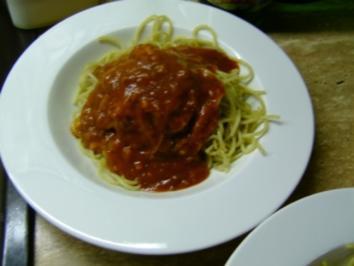 spaghetti tomatenso e rezept mit bild. Black Bedroom Furniture Sets. Home Design Ideas