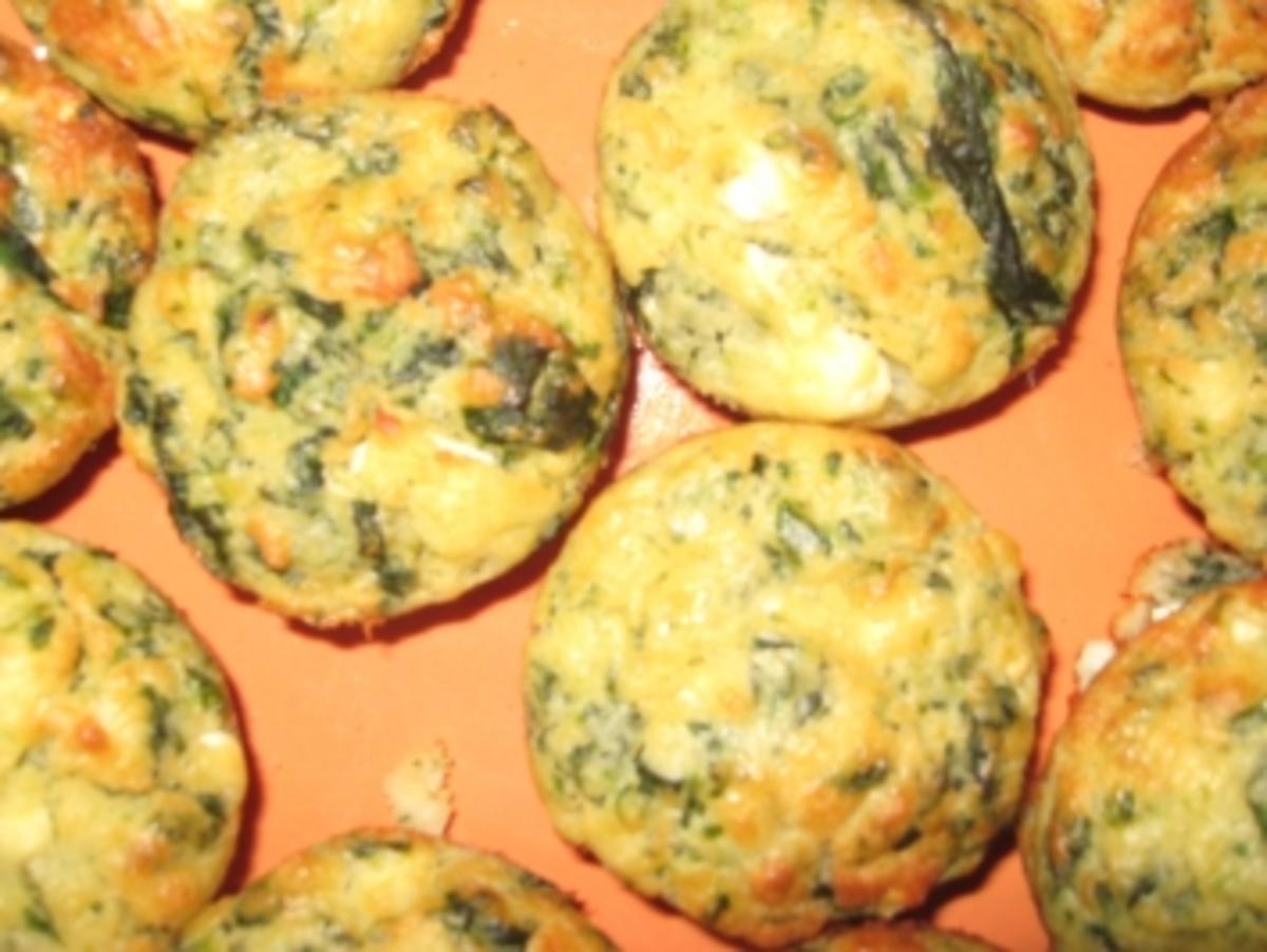 spinat feta muffins rezept mit bild. Black Bedroom Furniture Sets. Home Design Ideas