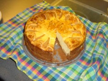 Kuchen mit birne und quark