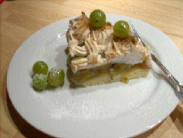 Stachelbeer kuchen mit gefrorenen beeren