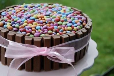 Kitkat und smarties kuchen rezept