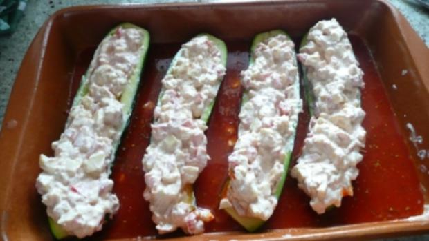 gefüllte zucchini für die leichte küche - rezept - kochbar.de - Rezept Leichte Küche