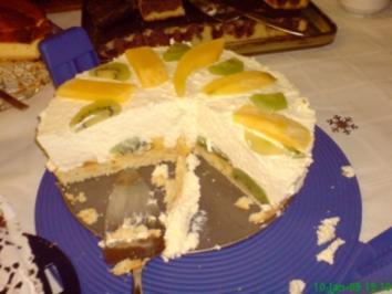 Quark sahne torte mit kiwi