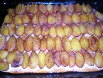 Schnelle kuchen auf dem blech