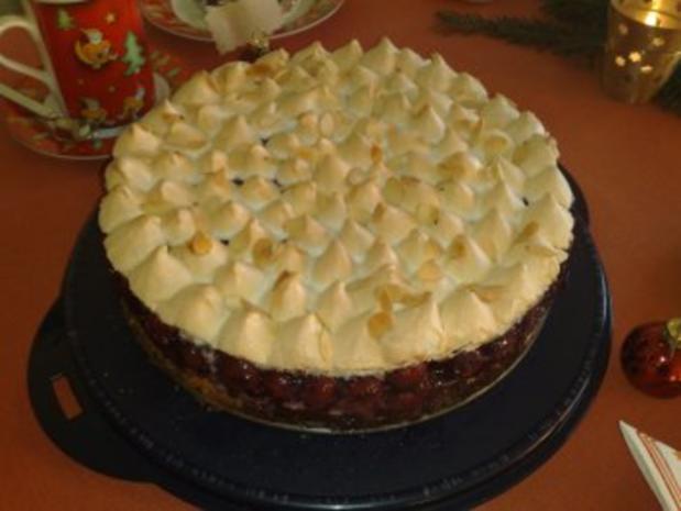 Sauerkirsch baiser kuchen