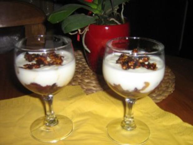 cranberrie birnen dessert mit karamelisierten waln ssen rezept. Black Bedroom Furniture Sets. Home Design Ideas