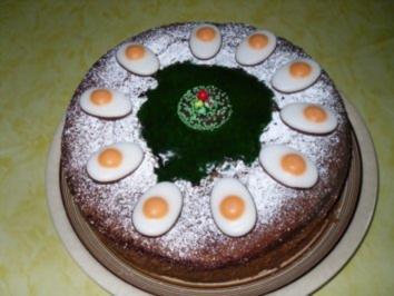 Osterdeko auf kuchen