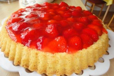 Philadelphia erdbeer vanille torte