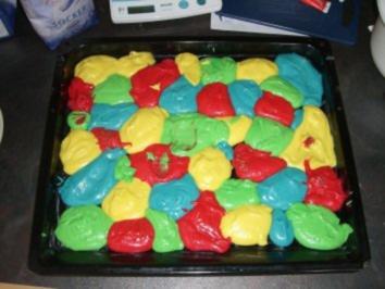 Papageienkuchen mit fondant