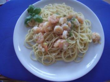 spaghetti mit shrimps rezept mit bild. Black Bedroom Furniture Sets. Home Design Ideas