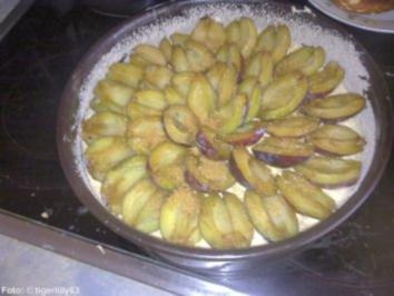 Haselnuss kuchen mit kirschen