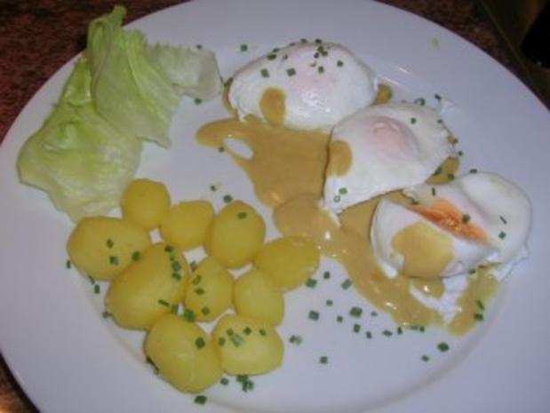 pochierte eier in senfsauce salzkartoffeln salat die. Black Bedroom Furniture Sets. Home Design Ideas