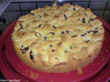 Kuchen mit pflaumen und streusel