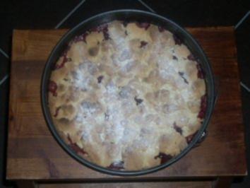 Kuchen aus gefrorenen pflaumen