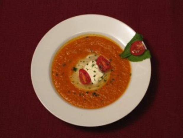 tomatencremesuppe mit basilikum rezepte suchen. Black Bedroom Furniture Sets. Home Design Ideas