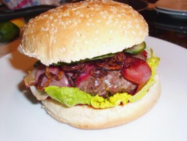 fleisch beefburger texas style rezept. Black Bedroom Furniture Sets. Home Design Ideas