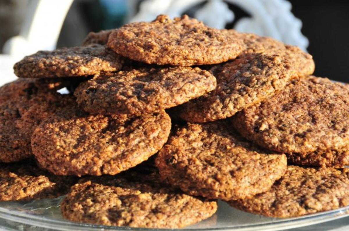 schokolade nuss cookies rezept mit bild. Black Bedroom Furniture Sets. Home Design Ideas