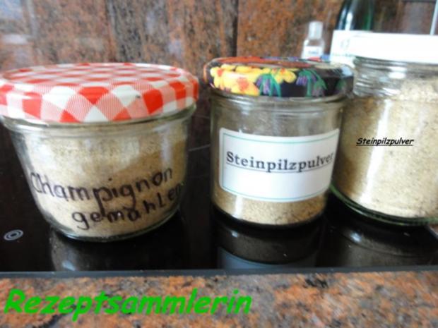 pilze champignon steinpilzpulver als vorrat rezept. Black Bedroom Furniture Sets. Home Design Ideas