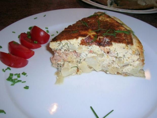lachs spargel quiche mit frischem dill rezept. Black Bedroom Furniture Sets. Home Design Ideas
