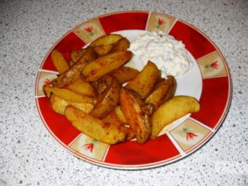 Rezept: Country potatoes / gebackene Kartoffelecken