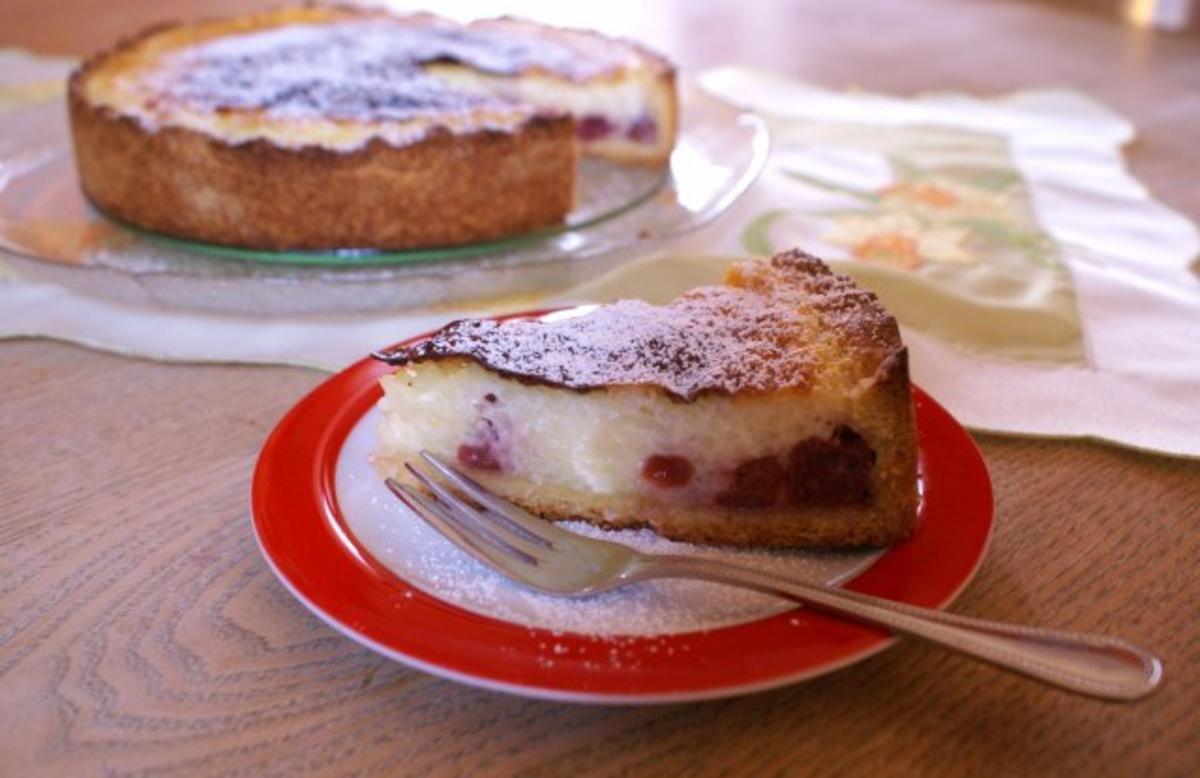 Cranberry kuchen mit quark
