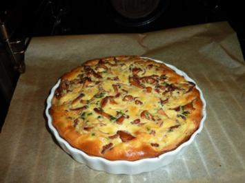 Rezept: Pfifferlings-Quiche