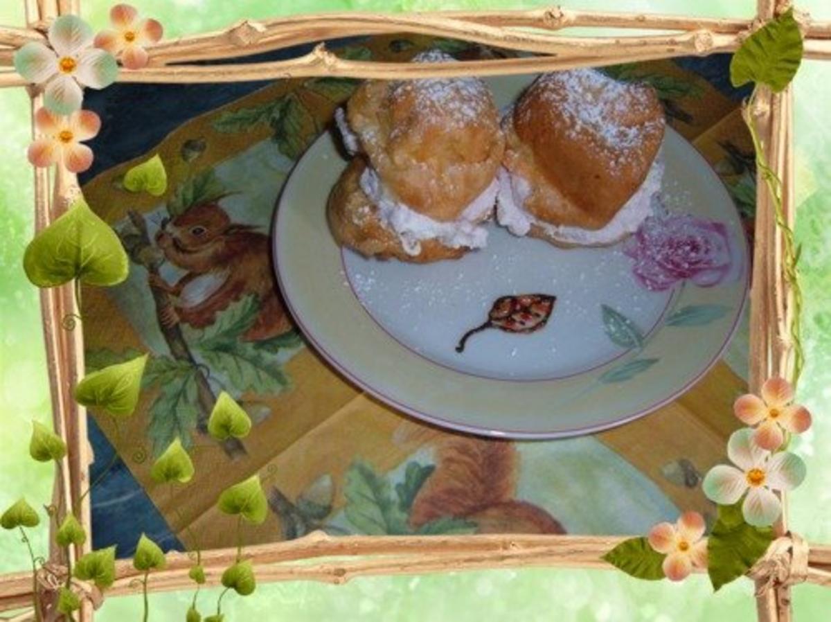 Kuchen  Herbst  Sturmsäcke(Windbeutel )  Rezept