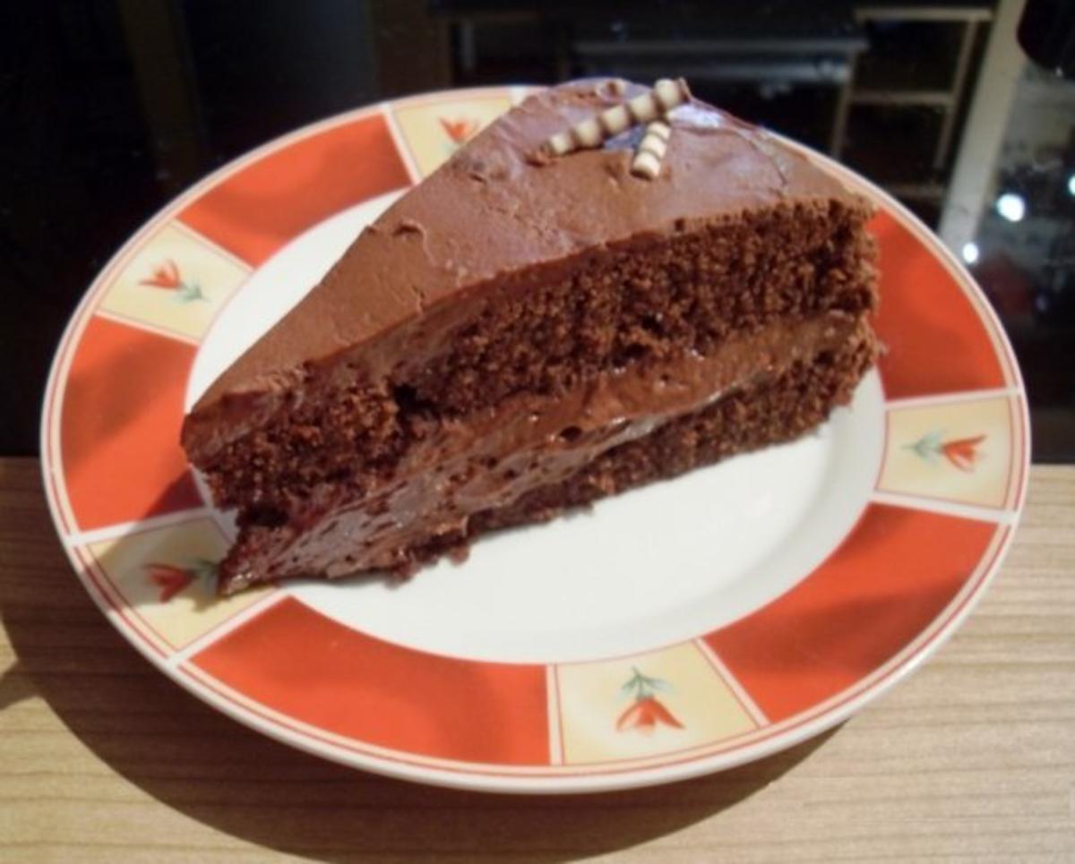schokoladen torte death by chocolate rezept. Black Bedroom Furniture Sets. Home Design Ideas