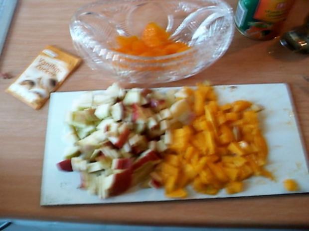 mango apfel physalies mandarinen salat rezept. Black Bedroom Furniture Sets. Home Design Ideas