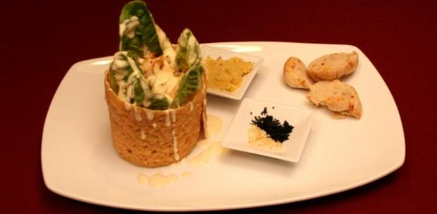 caesar salad la dubai mit chilibrot und orangen meerrettichbutter rezept. Black Bedroom Furniture Sets. Home Design Ideas
