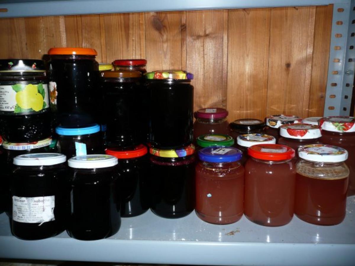 kirsch marmelade ca 25 gl ser rezept. Black Bedroom Furniture Sets. Home Design Ideas
