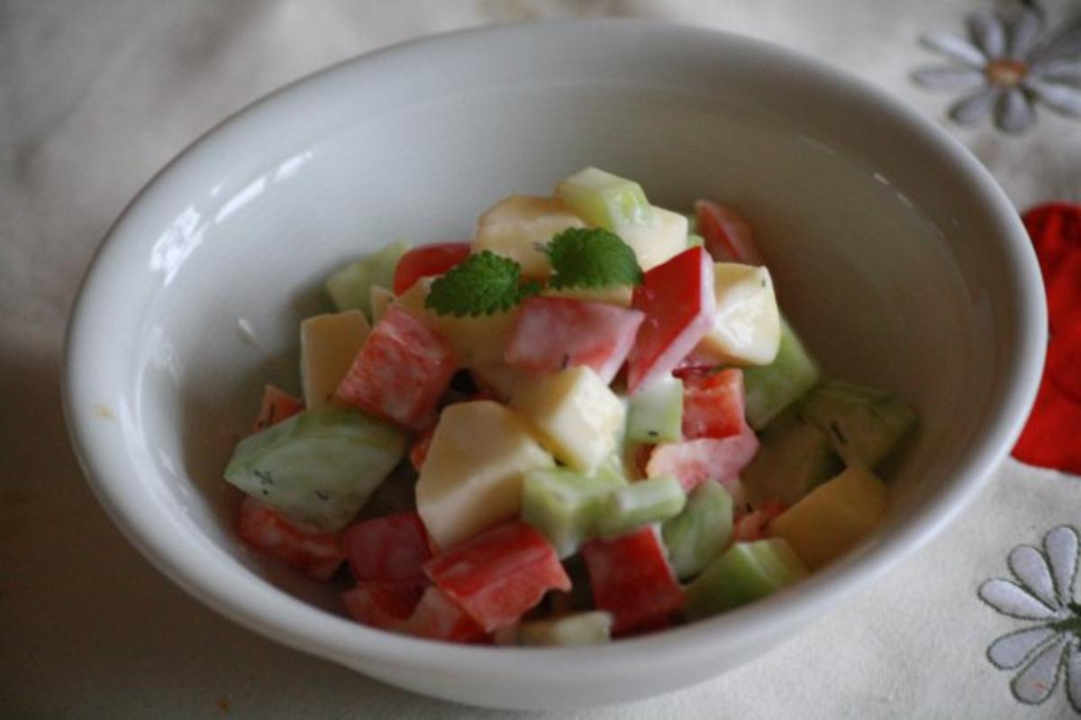 apfel gurken salat rezept mit bild. Black Bedroom Furniture Sets. Home Design Ideas