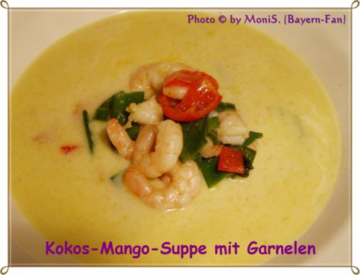 kokos mango suppe mit garnelen rezept. Black Bedroom Furniture Sets. Home Design Ideas