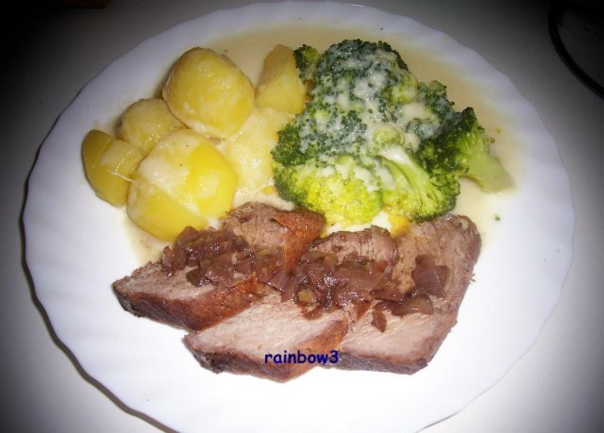 Kochen rinderbraten mit rotwein zwiebel sauce rezept for Kochen im sommer