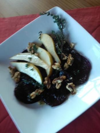 rote bete salat mit birnen rezept mit bild. Black Bedroom Furniture Sets. Home Design Ideas