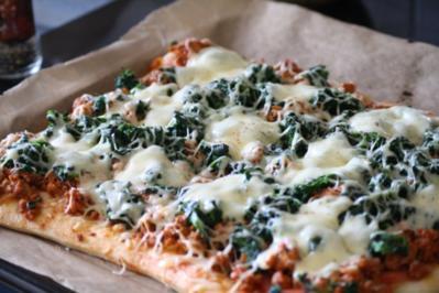 40 spinat pizza rezepte. Black Bedroom Furniture Sets. Home Design Ideas