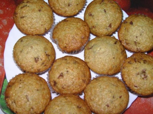 muffins mit schokoraspeln und vanille rezept. Black Bedroom Furniture Sets. Home Design Ideas