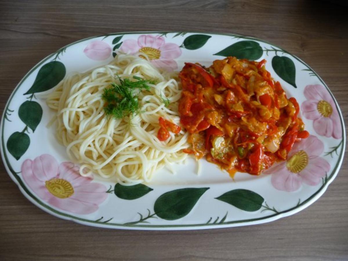 pasta spaghetti mit fenchel paprika rahm gem se rezept. Black Bedroom Furniture Sets. Home Design Ideas