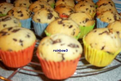Backen: Stracciatella-Mini-Muffins - Rezept
