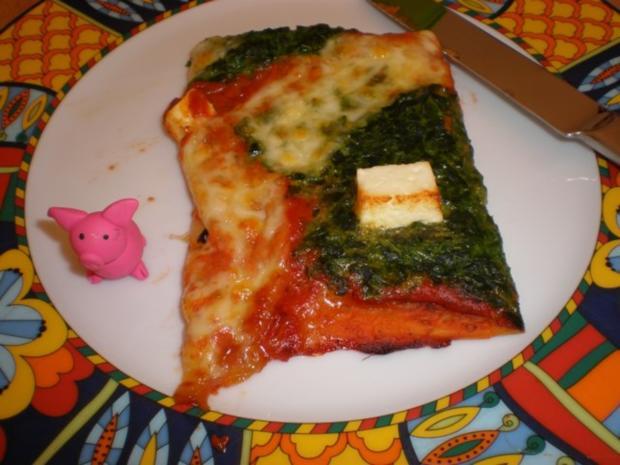 pizza mit spinat rezept mit bild. Black Bedroom Furniture Sets. Home Design Ideas