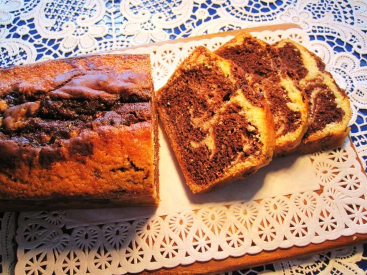 Kuchen mit kakao und nutella