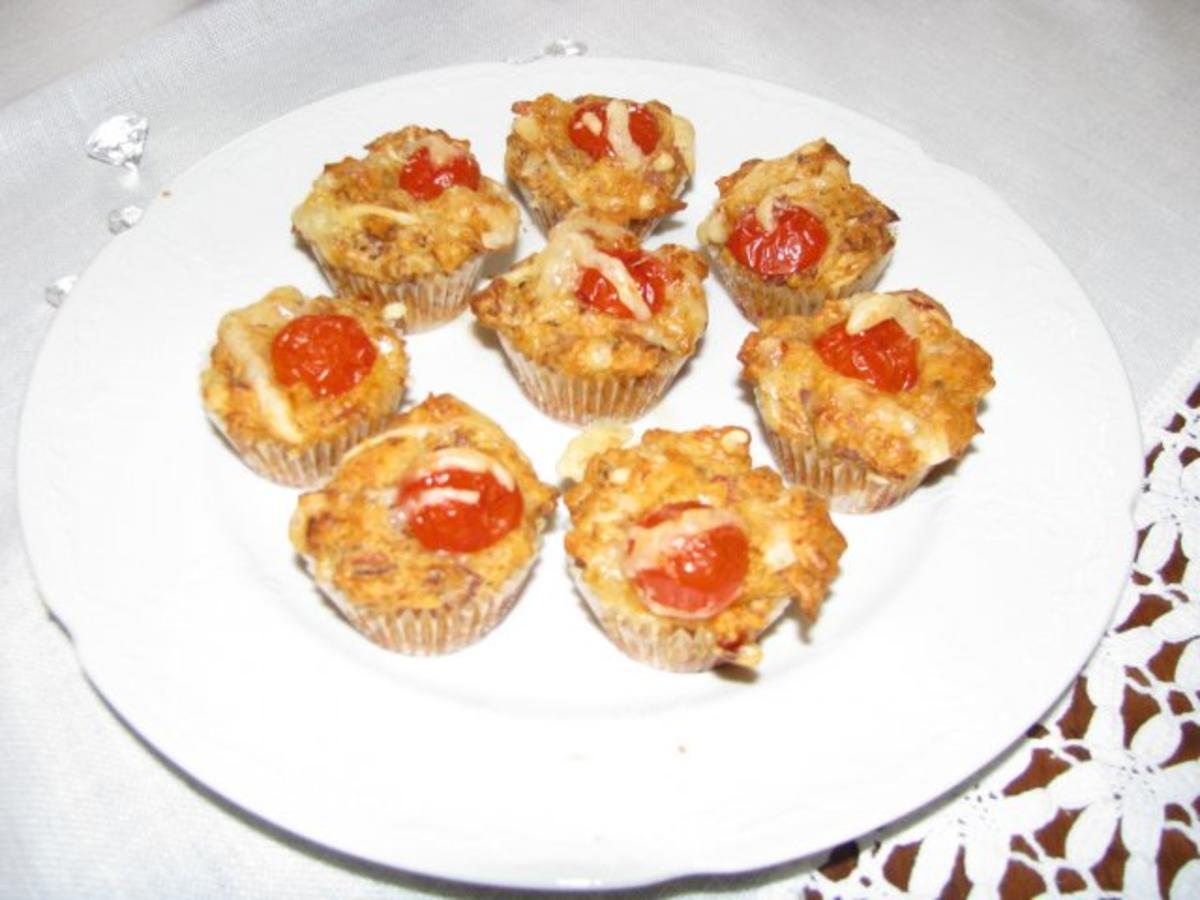 fingerfood mini pizza muffins rezept. Black Bedroom Furniture Sets. Home Design Ideas