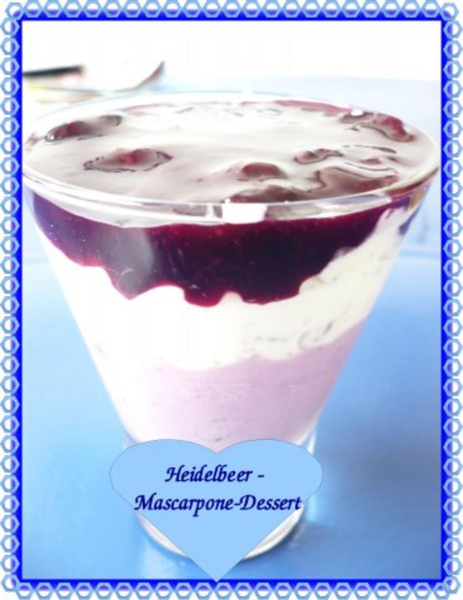 heidelbeer mascarpone dessert rezept. Black Bedroom Furniture Sets. Home Design Ideas
