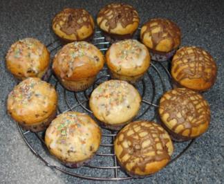 muffins mit schokost ckchen rezepte. Black Bedroom Furniture Sets. Home Design Ideas
