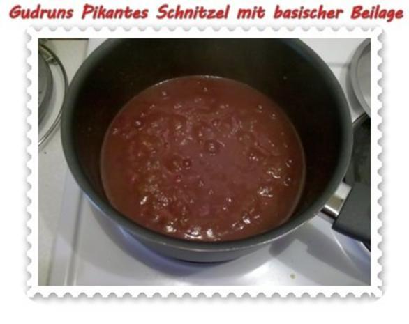 fleisch pikantes schnitzel mit asiatischer tomatenso e. Black Bedroom Furniture Sets. Home Design Ideas