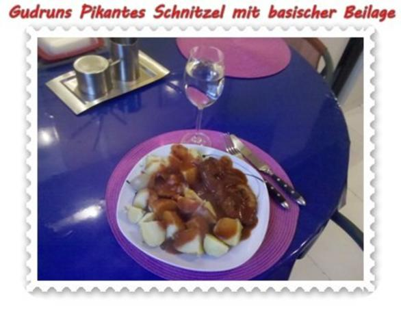 fleisch pikantes schnitzel mit asiatischer tomatenso e rezept. Black Bedroom Furniture Sets. Home Design Ideas
