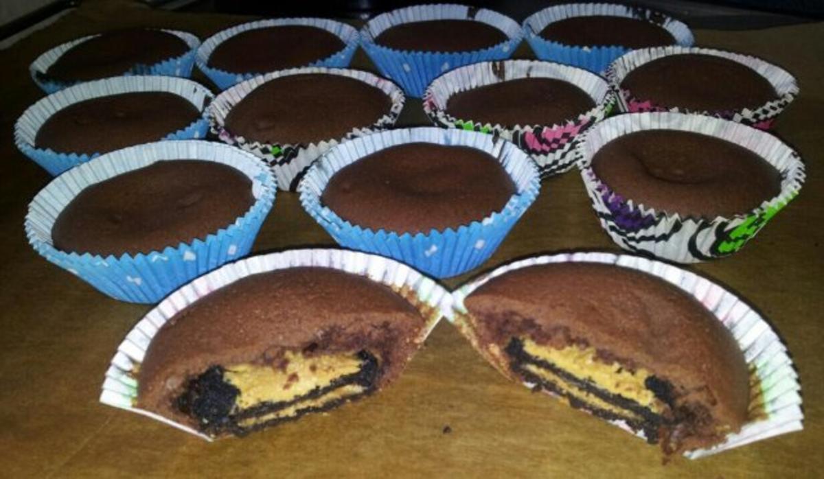 oreo erdnuss muffin rezept mit bild. Black Bedroom Furniture Sets. Home Design Ideas